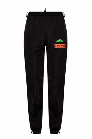 Logo-patched trousers od Heron Preston
