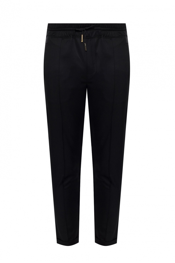 Billionaire Wool trousers with logo