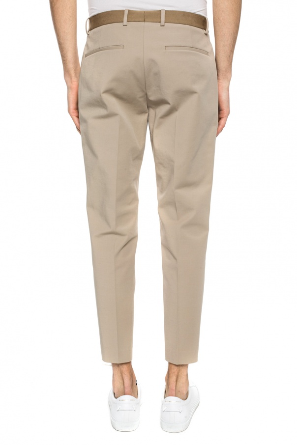 Grosgrain belt trousers od Theory