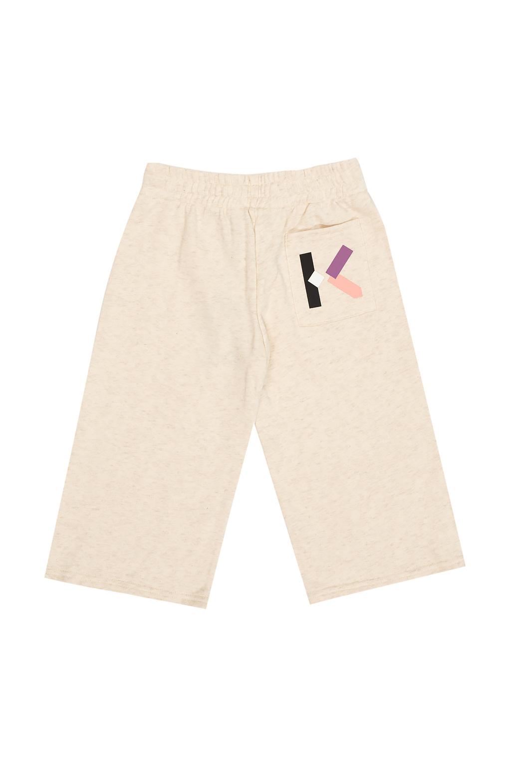 Kenzo Kids Logo-printed shorts