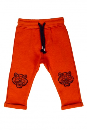 Embroidered tiger head sweatpants od Kenzo Kids