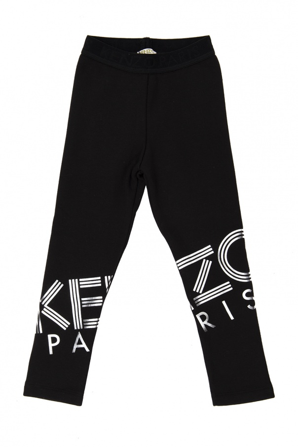 Kenzo Kids Padded leggings with logo
