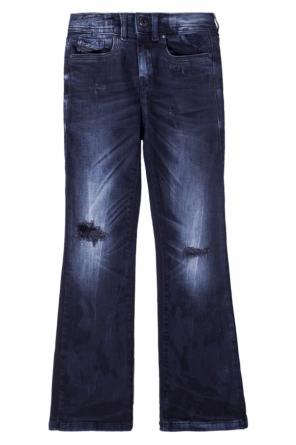 Flared jeans with holes od Diesel