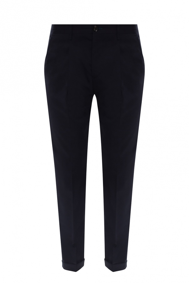 PS Paul Smith Wool front-pleat trousers