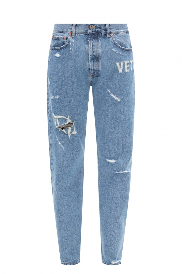 Vetements Raw edge jeans
