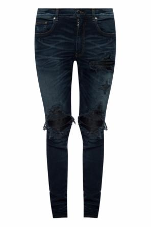 Leather-lined jeans od Amiri