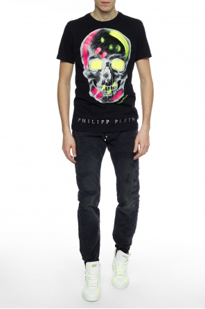 Distressed jeans with logo od Philipp Plein