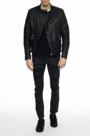 Distressed waxed trousers od Philipp Plein