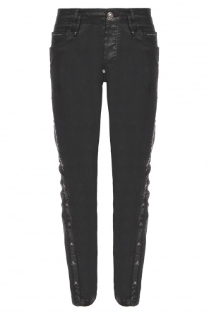 Waxed trousers with skulls od Philipp Plein