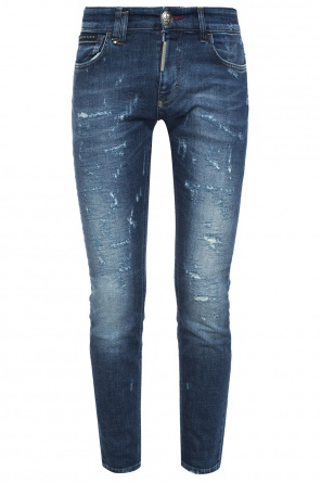 Jeans with embroidered tiger motif od Philipp Plein