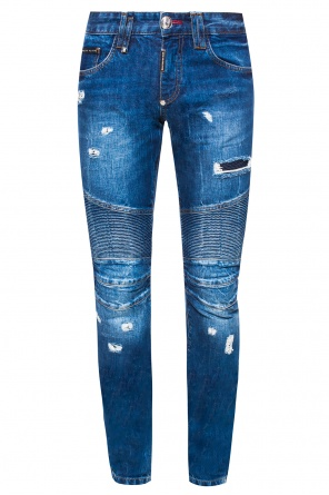 'get on top' biker jeans od Philipp Plein