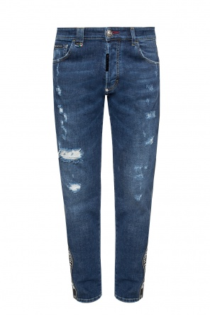 Jeans with logo side stripes od Philipp Plein