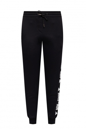 Sweatpants with branded panels od MCM