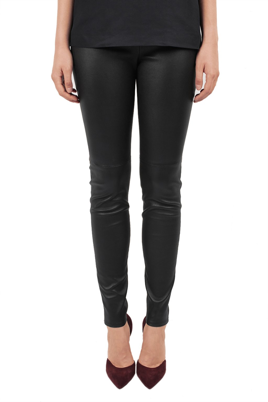 Michael Michael Kors Leather skinny trousers