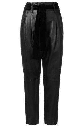High-waisted leather trousers od Michael Kors