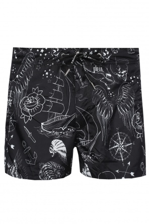 Patterned swim shirts od Philipp Plein