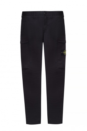 Trousers with a logo application od Stone Island