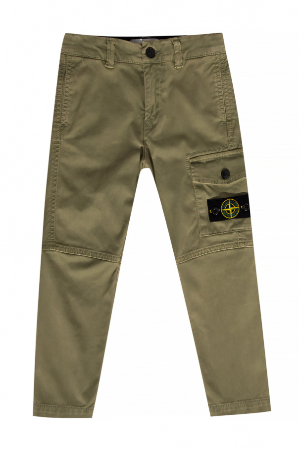 Stone Island Kids Trousers with logo