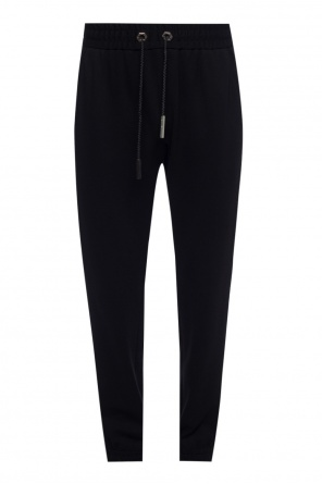 Appliqued side-stripe trousers od Philipp Plein