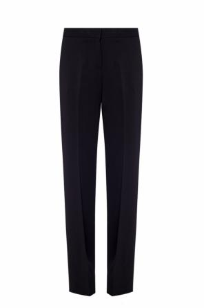 Straight leg pleat-front trousers od Michael Kors