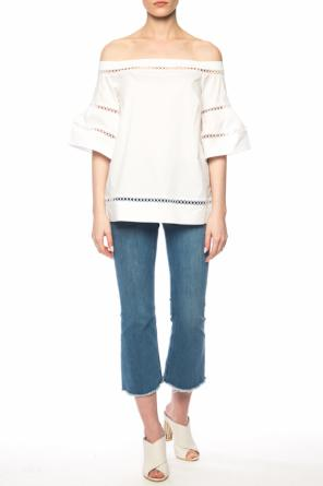 Fringed flared jeans od Michael Kors