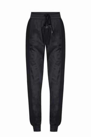 Side-stripe polyamide trousers od N21