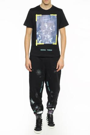 Paint-splatter sweatpants od Off White