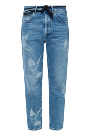Bird motif jeans od Off White