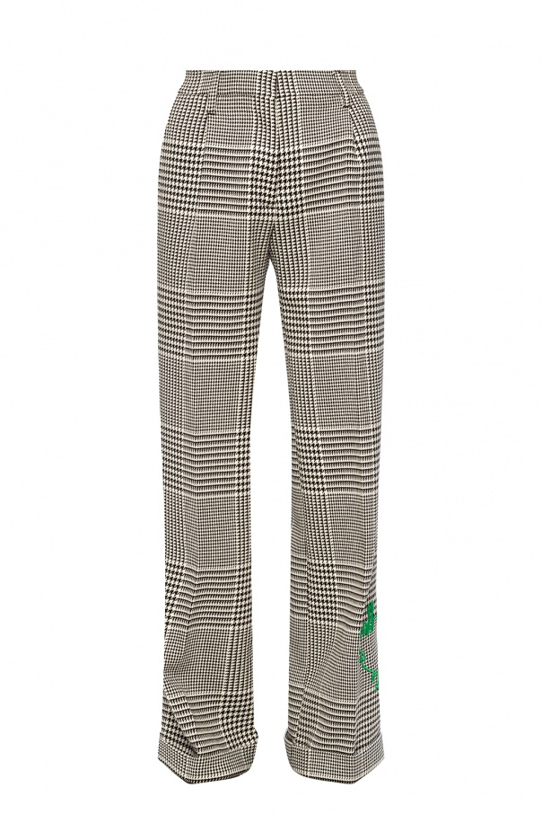 Off-White Pleat-front trousers with logo