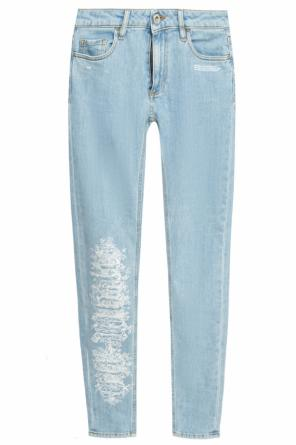 Jeans with embroidery od Off White
