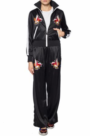 Embroidered wide trousers od Diesel