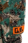 Patched camo cargo trousers od Diesel