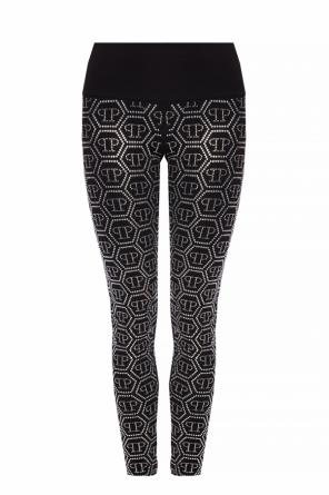 Crystal-embellished leggings od Philipp Plein