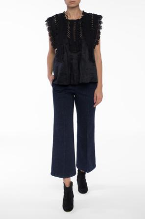 Pleated flared jeans od Isabel Marant