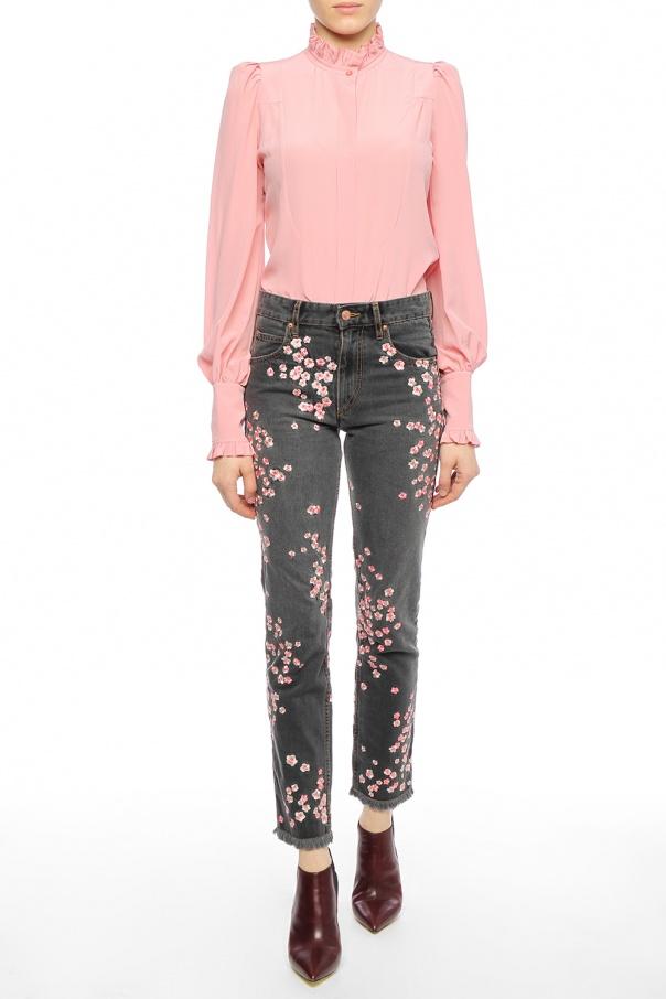Floral Motif-embroidered Jeans Isabel Marant - Vitkac Shop Online