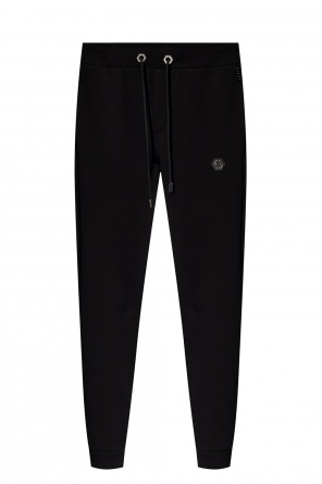 Logo-patched trousers od Philipp Plein