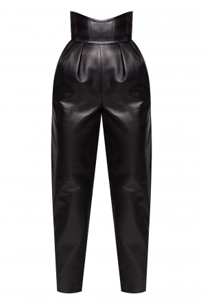 High-waisted leather trousers od Philipp Plein