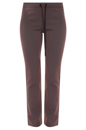 Patterned flared trousers od Marni