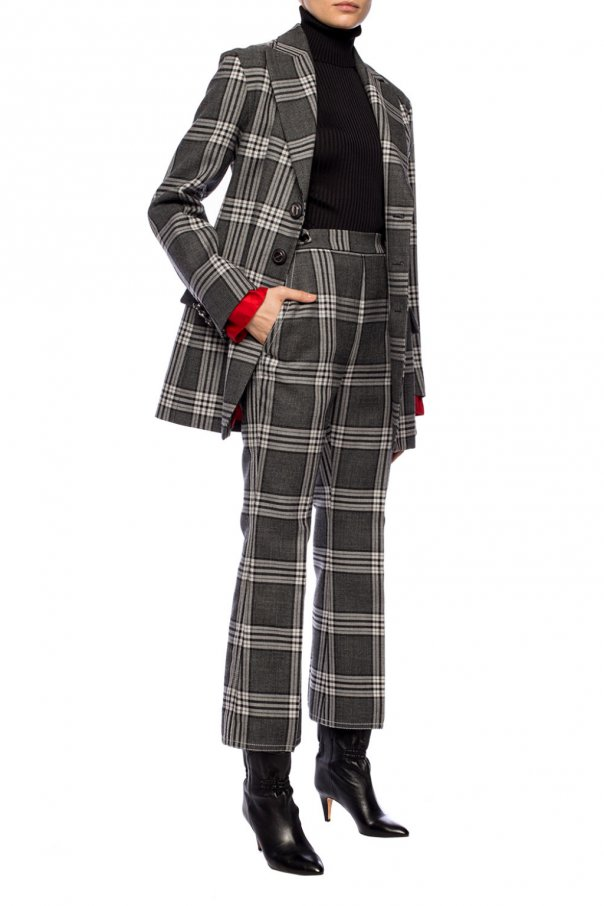 Creased patterned trousers od Marni