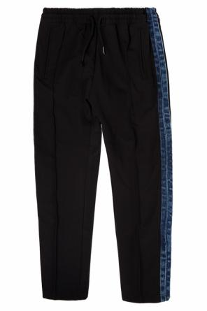 Trousers with denim stripes od Diesel