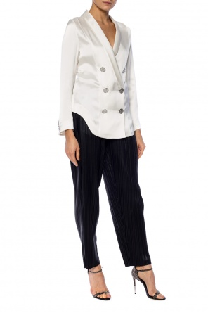 Pinstriped trousers od Balmain