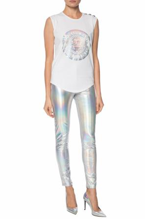 Holographical trousers od Balmain
