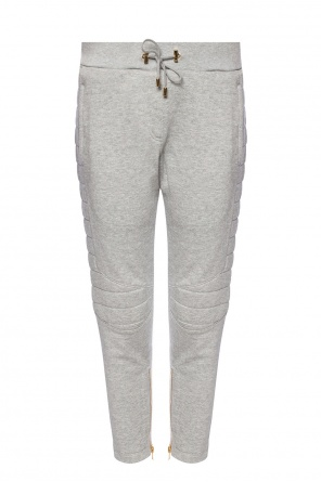 Sweatpants with sewn-in zippers od Balmain