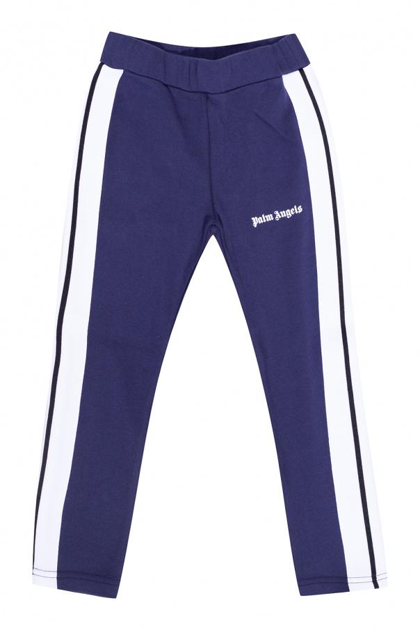 Palm Angels Kids Side stripe sweatpants