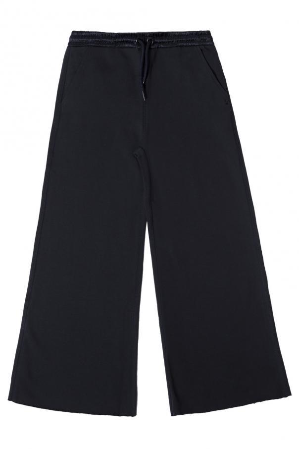 Diesel Kids Sweatpants with wide legs