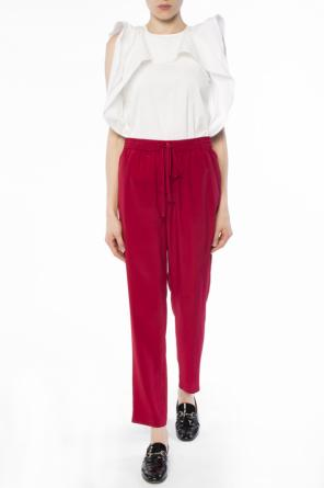 Silk trousers od Valentino Red