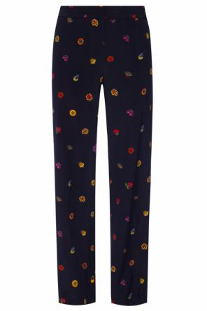 Floral motif trousers od Paul Smith