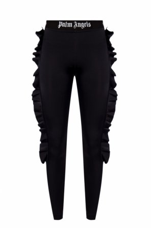 Leggings with ruffles od Palm Angels