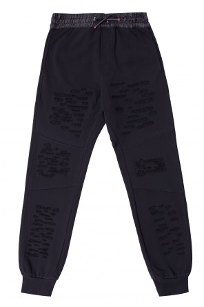 Ripped jogging trousers od Diesel