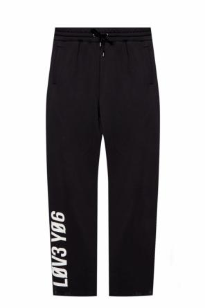 Sweatpants with zip cuffs od Valentino Red